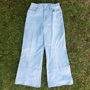 Frame Palazzo High Rise Wide Leg Jeans Size 32